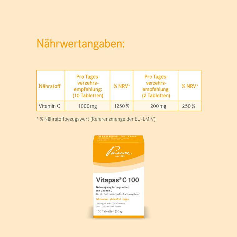 Nährwertangaben Vitapas C 100