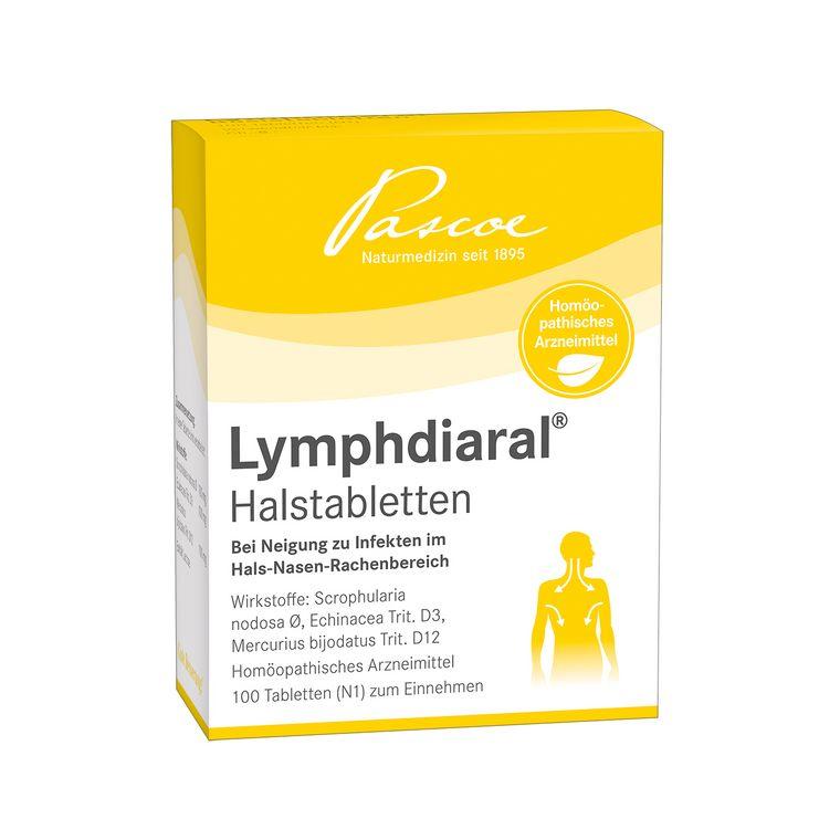 Lymphdiaral Halstabletten 100 Packshot PZN 03898510