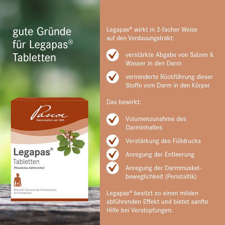 Gute Gründe für Legapas Tabletten