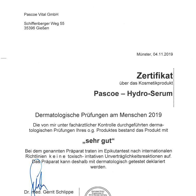 [Translate to Englisch:] Zertifikat