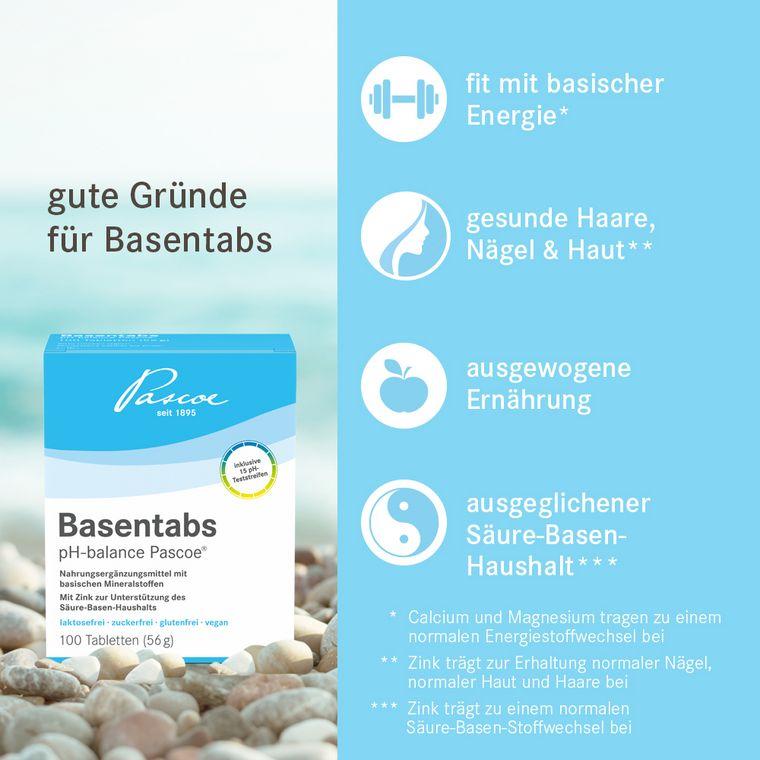 Gute Gründe für Basentabs pH-balance Pascoe