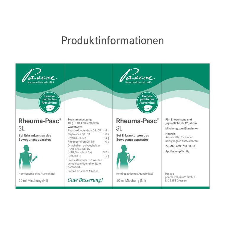 [Translate to Englisch:] Rheuma-Pasc SL Etikett