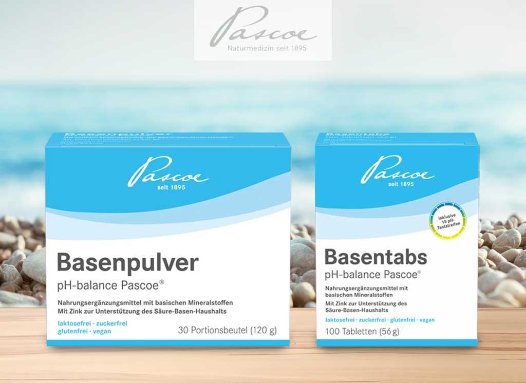 Basenprodukte von Pascoe Vital