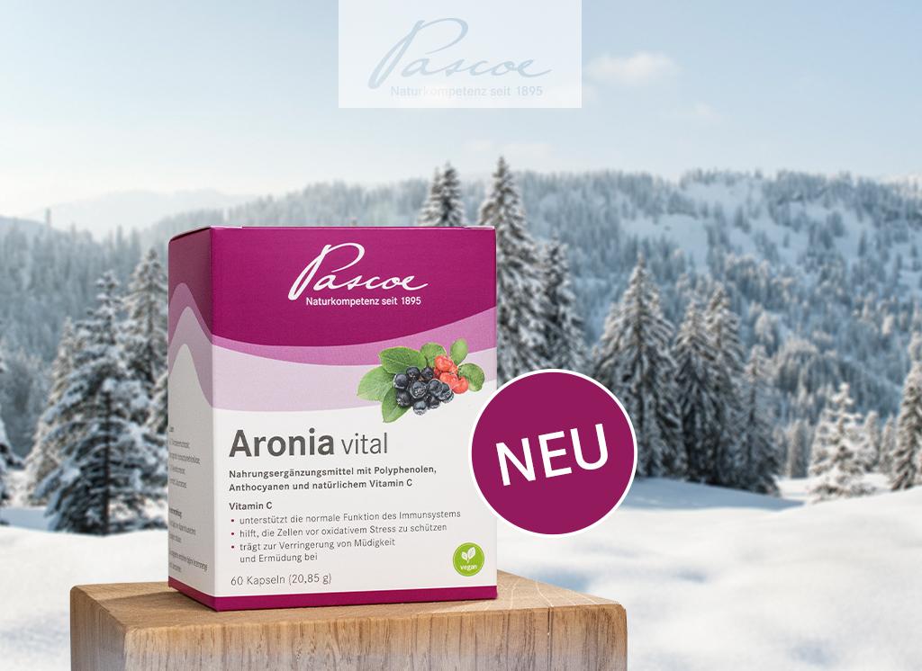 Jetzt neu: Aronia vital – starkes Duo aus der Aroniabeere und der Acerolakirsche