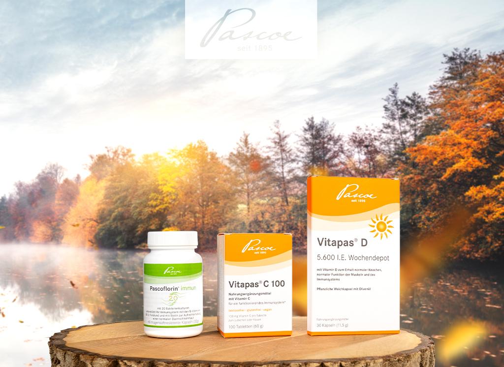 Das Pascoe-Immunpaket: Dreifach die Abwehrkräfte unterstützen