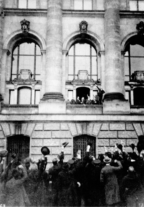 Ausrufung der Republik durch Philipp Scheidemann am 9. November 1914
