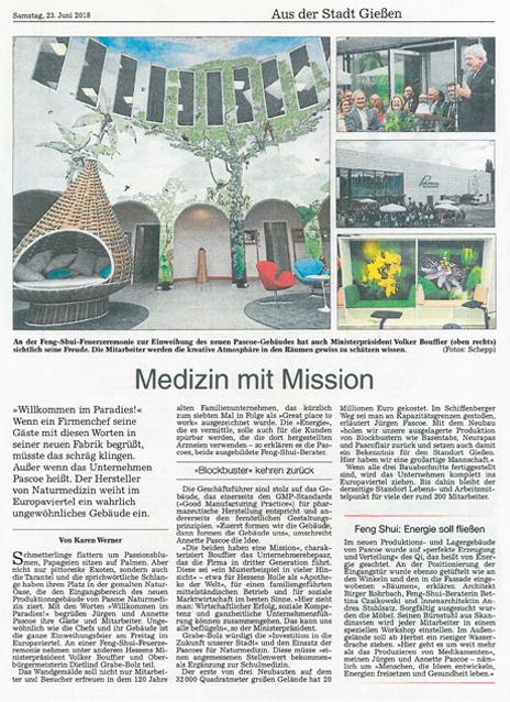Neubau Zeitungsausschnitt Gießener Allgemeine